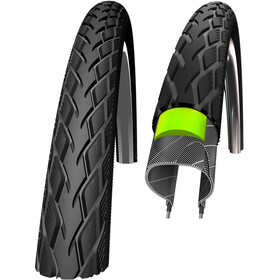 "SCHWALBE Marathon Wired-on Tire GreenGuard E-25 SpeedGrip Reflex 28x1.10"" black"